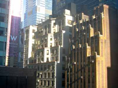 View from The Muse hotel near Times Square